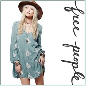 Free People Emma Embroidered Swing Dress